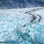 Sawyer Glacier At Tracy Arm Fjord In Alaska Panhandle Art Print