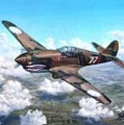 Flying Tiger over China Art Print