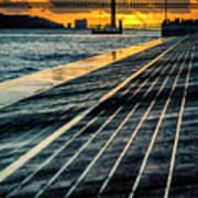 25 De Abril Bridge In Lisbon. Art Print