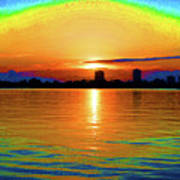 25- Psychedelic Sunrise Art Print