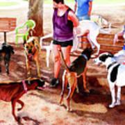 #258 Rruff Dog Park Art Print