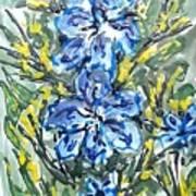 Digital Flower Painting Art Print