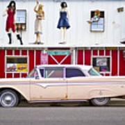 Route 66 Cars Cafes Restaurants Hotels Motels Art Print