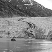 Sawyer Glacier At Tracy Arm Fjord In Alaska Panhandle Art Print