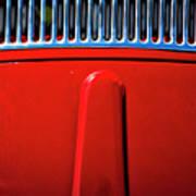 2674- Red Volkswagen  Art Print