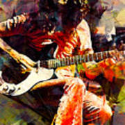 Jimmy Page. Led Zeppelin. Art Print