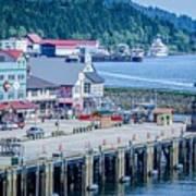 Scenery Around Alaskan Town Of Ketchikan Art Print