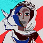 270 - Flashy Woman - Poster 2   Art Print