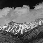 2d07509-bw High Peaks In Lost River Range Art Print