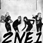 2ne1 Korean Pop Power Print by Kenal Louis