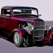 1932 Ford 'three Window' Coupe   Art Print