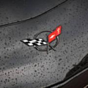 2002 Corvette Ls1 Painted Bw Art Print