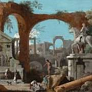 A Capriccio Of Roman Ruins Art Print