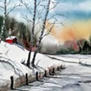 A Classic Winter Art Print