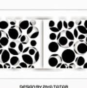 Abstract Monochrome Art Print