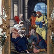 Adoration Of Magi Art Print