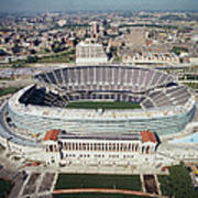 Aerial View Of A Stadium, Soldier Art Print