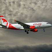 Air Canada Rouge Airbus A319-114 Art Print