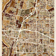 Albuquerque New Mexico City Street Map Art Print