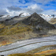 Aletsch Glacier, Switzerland Art Print