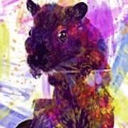 Animal Attractive Beautiful Brown  Art Print