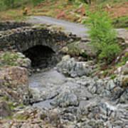 Ashness Stone Packhorse Bridge, Lake District National Park Art Print