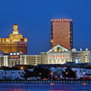 Atlantic City Skyline Art Print