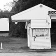 Auburn, Ny - Drive-in Theater Bw Art Print