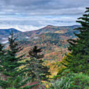 Autumn Foliage On Blue Ridge Parkway Near Maggie Valley North Ca Art Print