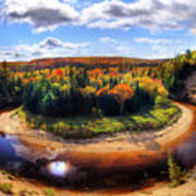 Autumn In Arrowhead Provincial Park Art Print