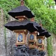 3 Bali Shrines Art Print