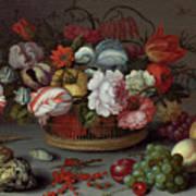 Basket Of Flowers Art Print