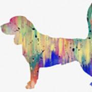 Beagle-colorful Art Print