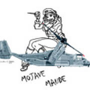 Bell Boeing Cv-22b Osprey Mojave Maude Art Print