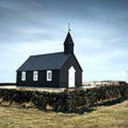 Black Church Of Budir, Iceland Art Print