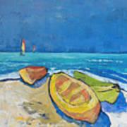 3 Boats   Art Print