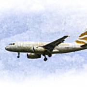 British Airways A319 Feather Design Art Art Print