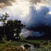 Buffalo Trail  The Impending Storm Art Print