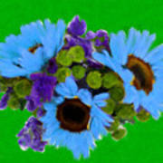 Bunch Of Pretty Flowers Art Print