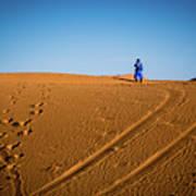 Tracks In The Sahara Art Print