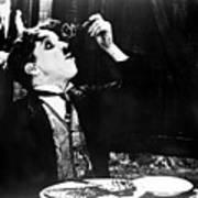 Chaplin: Gold Rush. 1925 Art Print