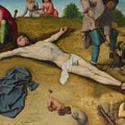 Christ Nailed To The Cross Art Print