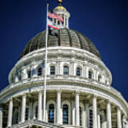 City Views Around California State Capitol Building In Sacrament Art Print