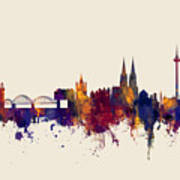 Cologne Germany Skyline Art Print
