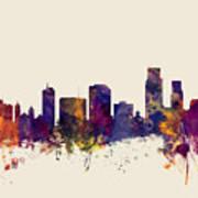 Corpus Christie Texas Skyline Art Print