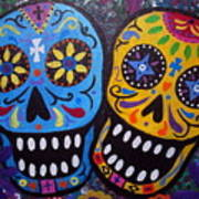 Couple Day Of The Dead Art Print