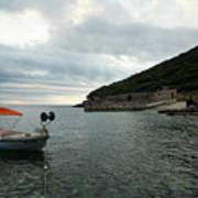 Cunski Beach And Coastline, Losinj Island, Croatia Art Print
