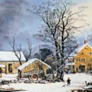 Currier & Ives Winter Scene Art Print