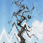 Dead Pine Tree Abstract Art Print