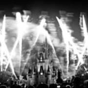 Disney Castle At Night Art Print